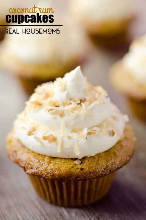 COCONUT RUM CUPCAKES are a surprisingly easy and moist tropical treat with a hint of rum!