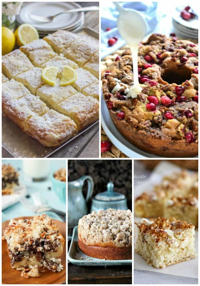 I love a little something sweet for breakfast or brunch, and these 25 COMFORTING COFFEE CAKE RECIPES are the best bite to have with your morning coffee!