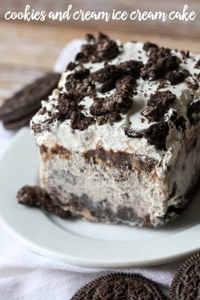 Cookies and Cream Ice Cream Cake - Lil' Luna
