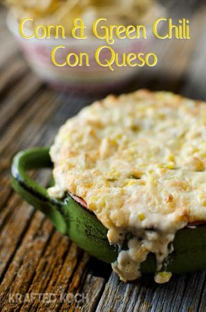 Corn & Green Chili Con Queso