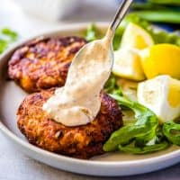 There's nothing like a batch of homemade Crab Cakes for dinner! Made with real lump crabmeat & fresh veggies, this recipe is simple, quick, and oh so yummy!