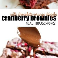 Cranberry Brownies with Chocolate-Orange Drizzle are rich and soft brownies with a silky chocolate drizzle that's pure decadence with a touch of holiday spirit!