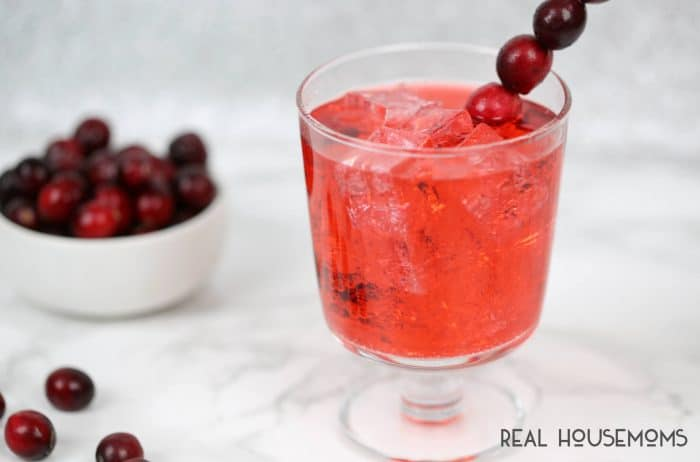 This Cranberry Ginger Fizz Cocktail is a bright combination of the cranberry flavor I love with a hint of ginger for a holiday cocktail you can't beat!