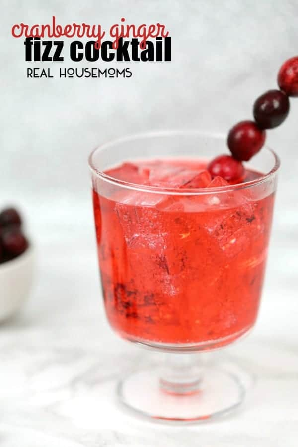 Cranberry Fizz Cocktail Recipe: Cranberry Ginger Fizz Cocktail ⋆ Real Housemoms