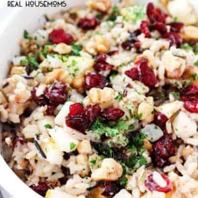 Cranberry Pear Walnut Rice Pilaf