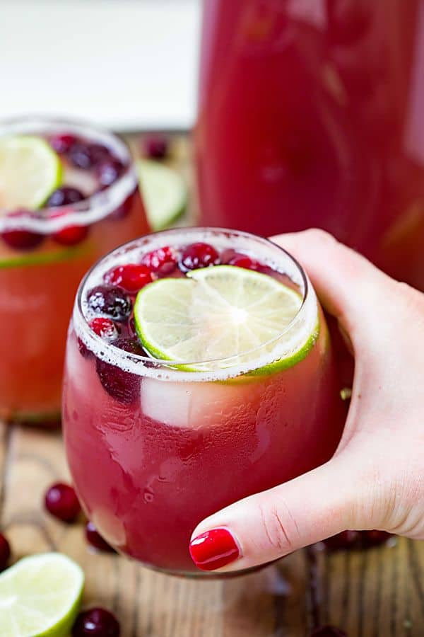 Cranberry Pineapple Punch Easy Cocktail Real Housemoms