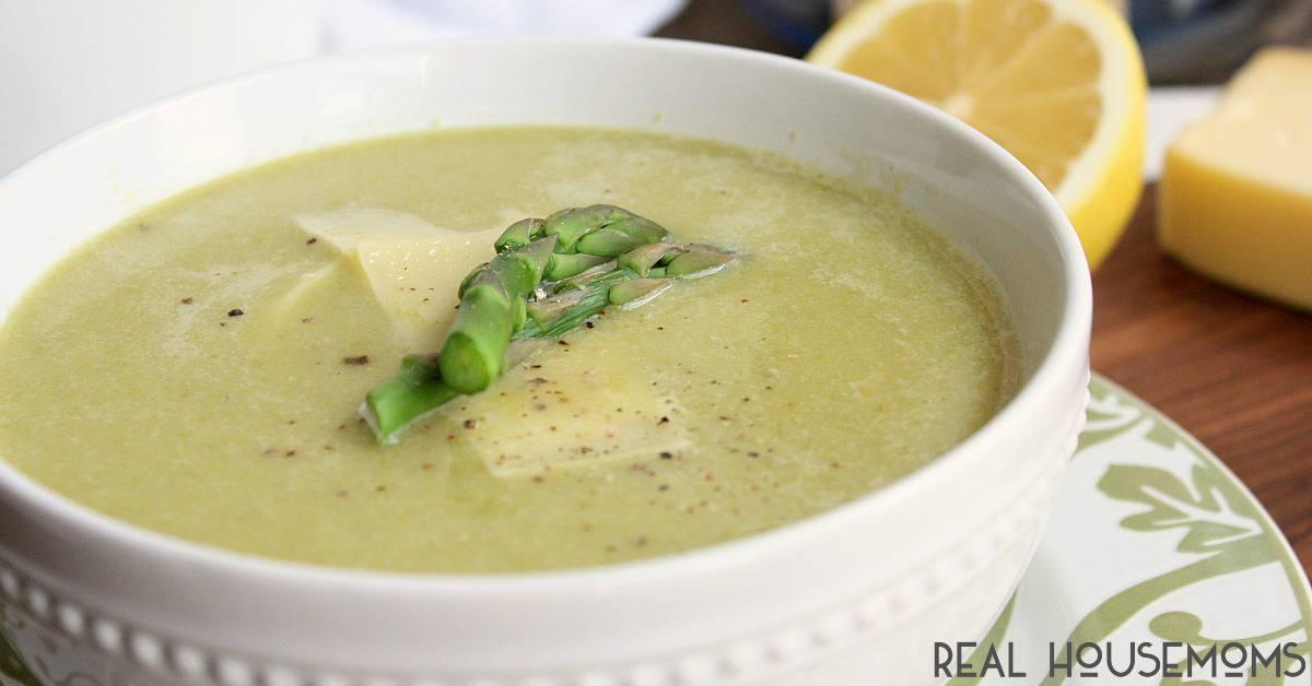 Creamy Asparagus Soup ⋆ Real Housemoms