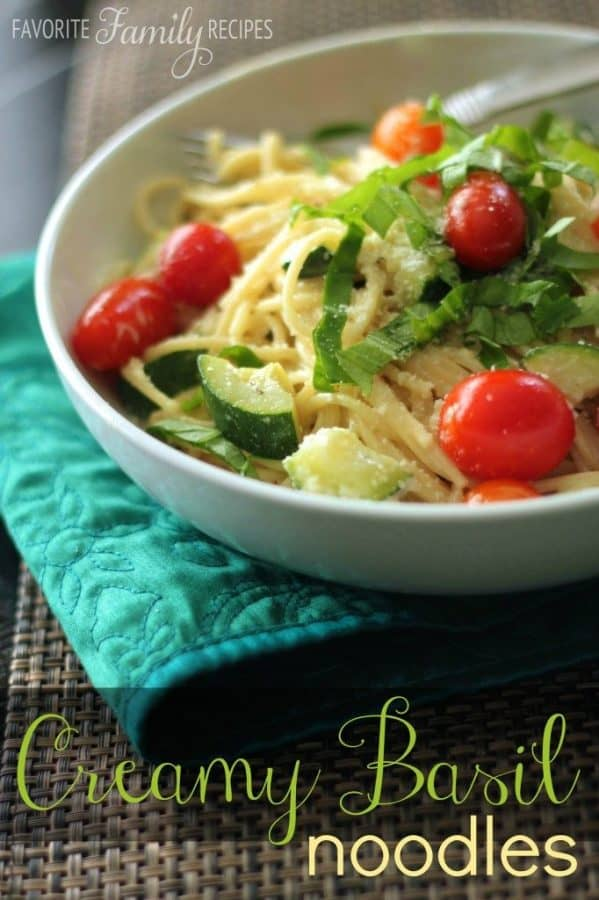 Creamy Basil Noodles - Favorite Family Recipes
