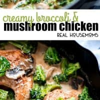Make Creamy Broccoli and Mushroom Chicken for a quick and delicious meal your family will love!