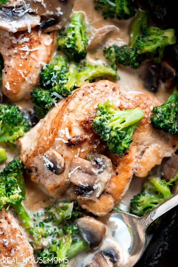 Creamy Broccoli And Mushroom Chicken Real Housemoms