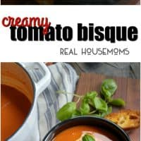 This Creamy Tomato Bisque is the perfect warm lunch for those cold winter days!