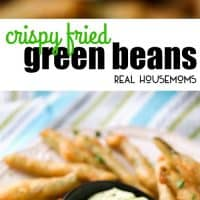 Now that we're heading into Fall and football season, it's time for all kinds of party foods. These Crispy Fried Green Beans with Wasabi Mayo are easy to whip up and they are always the first thing to get eaten at parties!