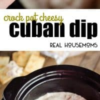 Crock Pot Cheesy Cuban Dip is an easy appetizer made in your slow cooker with all the great flavors of a Cuban sandwich including shredded pork, ham, and pickles!