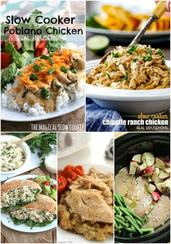 """These 25 Easy Crock Pot Chicken Recipes for Busy Weeknights are a life saver! Never dread hearing """"What's for dinner?"""" with the best crock pot recipes around!"""