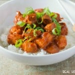 CROCK POT HONEY SRIRACHA CHICKEN is a simple, tasty meal that is easily done in your slow cooker!
