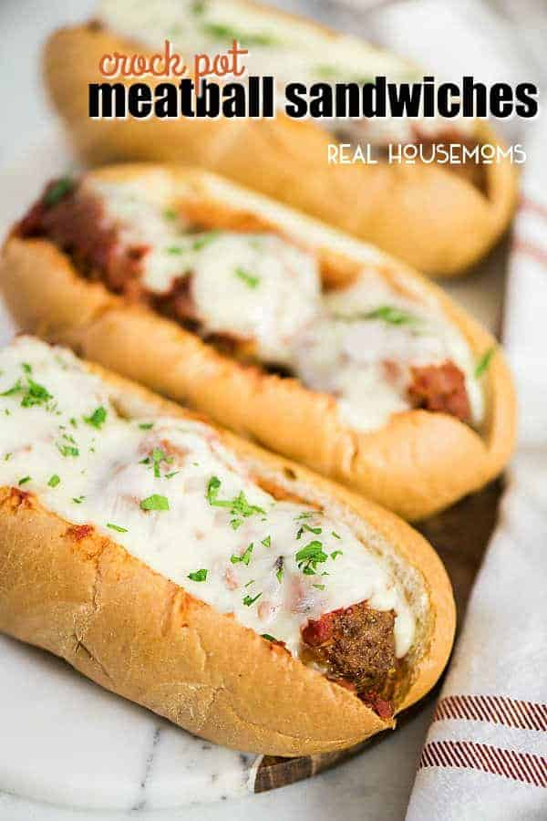 Crock Pot Meatball Sandwiches Easy Dinner Recipe Real Housemoms