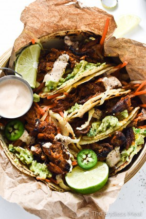 Crock Pot Pork Tacos with Crunchy Carrot Slaw | theendlessmeal.com