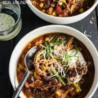 Crock Pot Pumpkin Chicken Chili is a family-friendly slow cooker recipe made for fall. Canned pumpkin gives the chili a creamy feel while sneaking in some extra veggies!