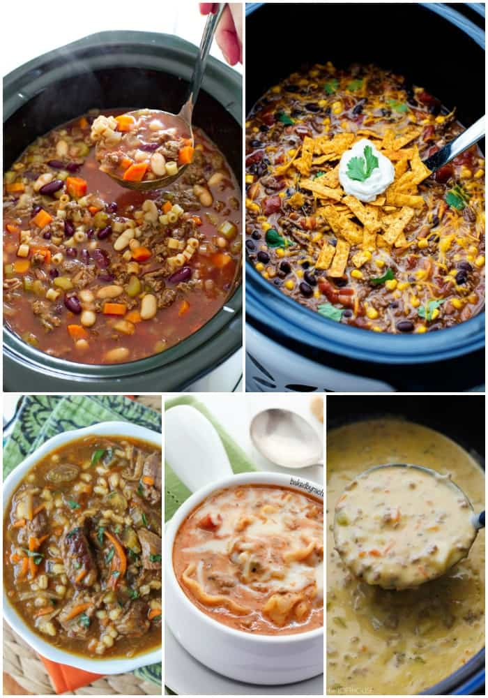 These 25 CROCK POT SOUP RECIPES are pure comfort food to warm you through and through. So are creamy, some are meaty, but they're all crazy good and surprisingly easy to make!