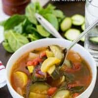 I like to have Crock Pot Vegetable Soup on hand to have for lunch on cold days or with dinner in place of a salad. It's an easy recipe that comes together fast!