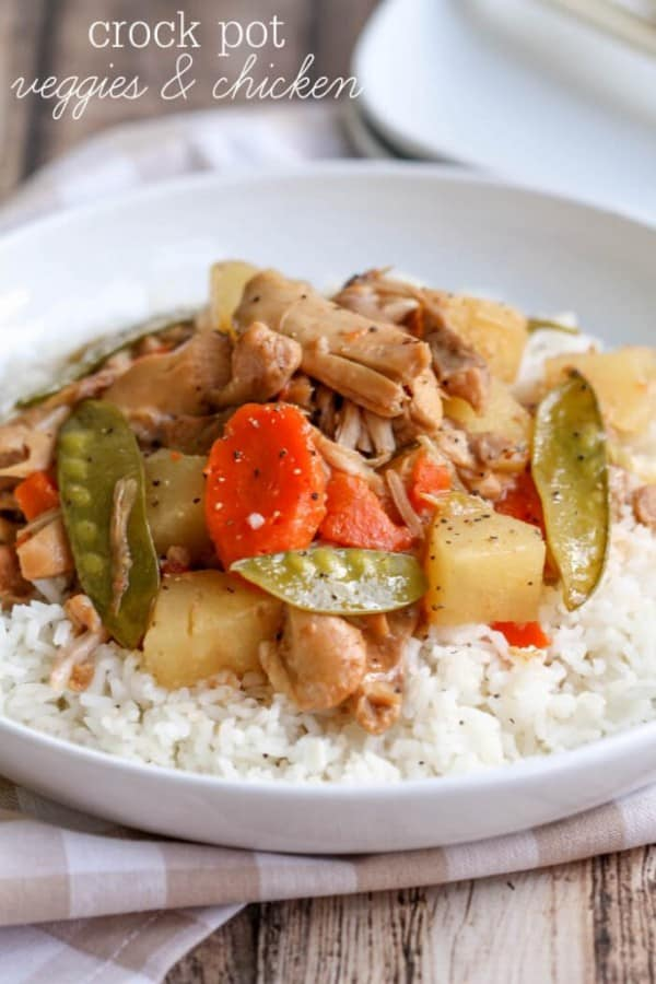 Crock Pot Veggies & Chicken - Lil'l Luna