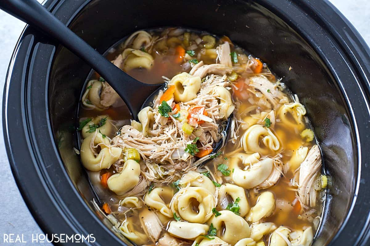 Crock Pot Chicken Tortellini Soup ⋆ Real Housemoms