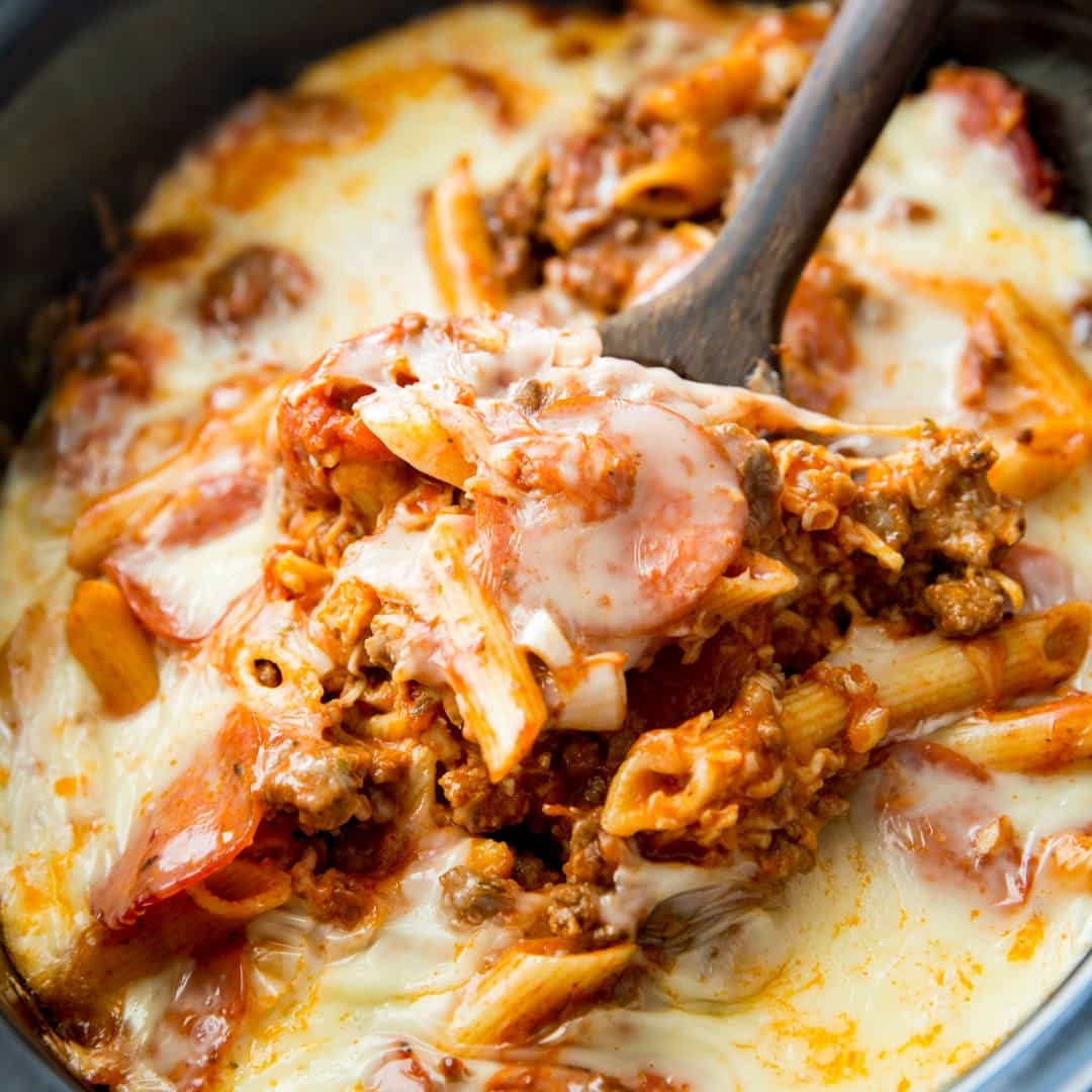 Crock Pot Pizza Casserole Real Housemoms