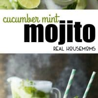 A light, refreshing, and totally delicious cucumber mint mojito. This is the drink you want to be sipping poolside all summer long!