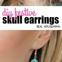 If you love earrings & Halloween, you need these cool Halloween inspired DIY Festive Skull Earrings that you'll want to wear all year long!