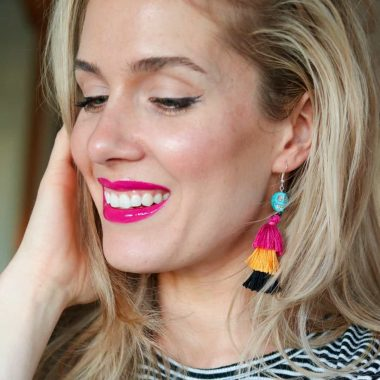 DIY Festive Skull Earrings