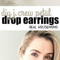 Recreate these perfect for spring, petal drop earrings inspired by J. Crew in under 10 minutes!