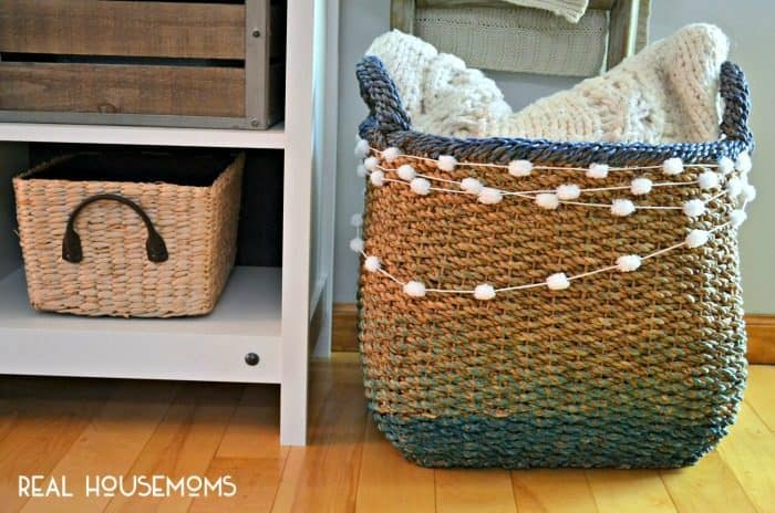 Freshen up your favorite decorative storage with a DIY JUTE BASKET UPDATE!