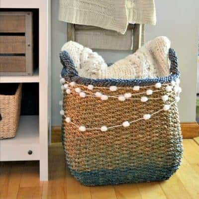 DIY Jute Basket Update