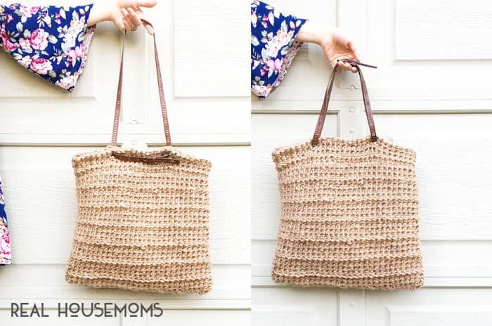 With sunnier days around the corner, I have an easy DIY JUTE AND CROCHET TOTE that will knock the socks off your savings account!