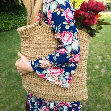 DIY Jute Cord and Crochet Tote