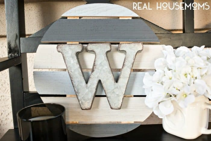 Perfect for home decor or great as a gift, make your own DIY MONOGRAM WALL ART!