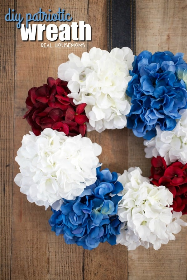 Incorporate the red, white, and blue into your home decor this summer with this easy DIY Patriotic Wreath!