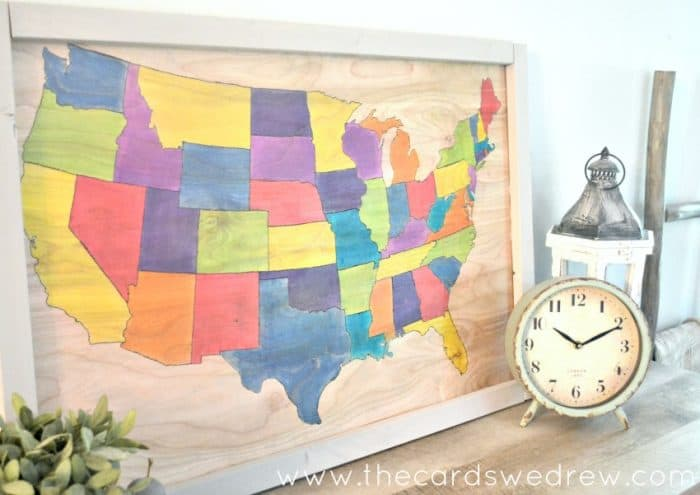 DIY United States Map on wood