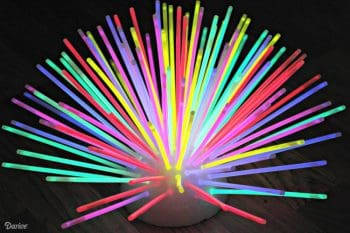 DIY Glowstick Centerpiece | The Cards We Drew
