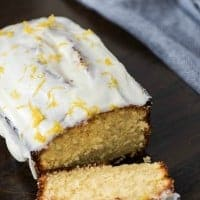 Double Glazed Lemon Pound Cake is moist and delicious then topped with a sweet lemon glaze while hot and a Cream Cheese Glaze once it cools! It's like sunshine in your mouth!!