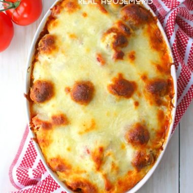 Easy Baked Tortellini and Meatballs