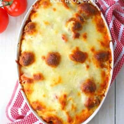 Easy Baked Tortellini and Meatballs
