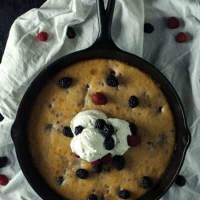 Easy Berry Skillet Cake