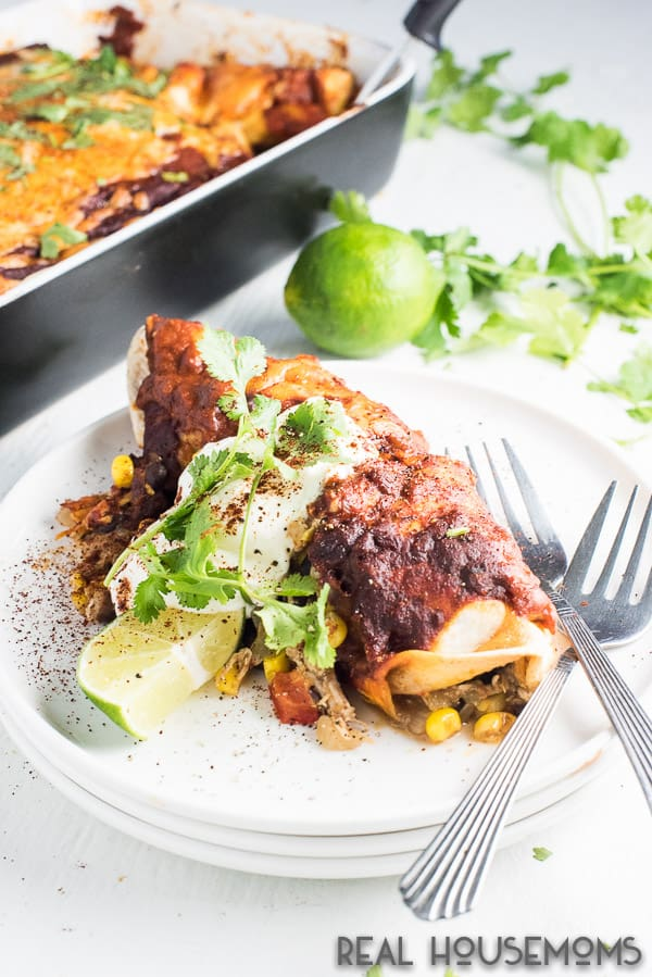 Easy Chicken Enchiladas are a breeze to make and a super delicious dinner recipe.