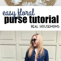 With spring right around the corner, I have an Easy Floral Purse Tutorial that will put a little spring into your step!!