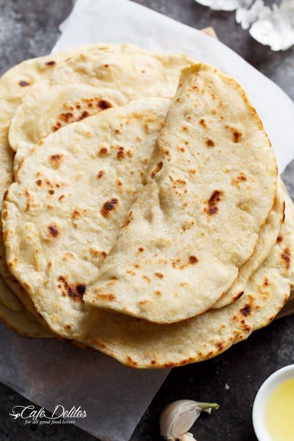 Easy Garlic Flatbread Recipe (No Yeast) - Cafe Delites
