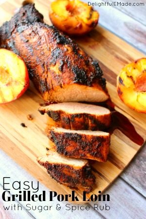 Easy Grilled Pork Loin by Delightful E Made