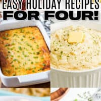 vertical collage of 6 holiday recipes with text overlay