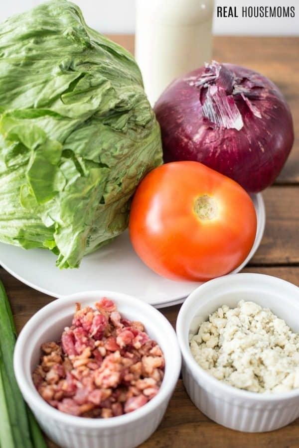 ingredients to make wedge salad recipe