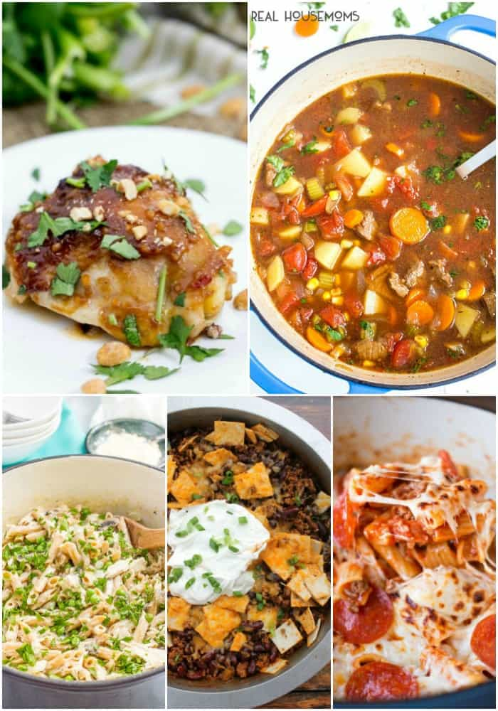Thes one-pot dinner recipes are big on flavor and have next to no cleanup! They get an A+ in my book!